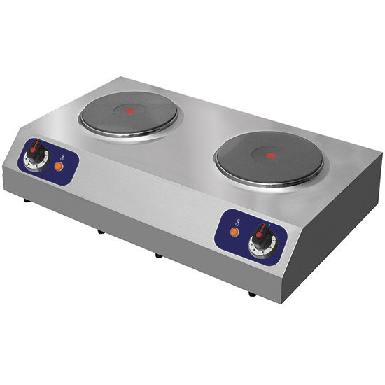 Elektro-Zweikochtafel, 2 runde Platten 2 kW