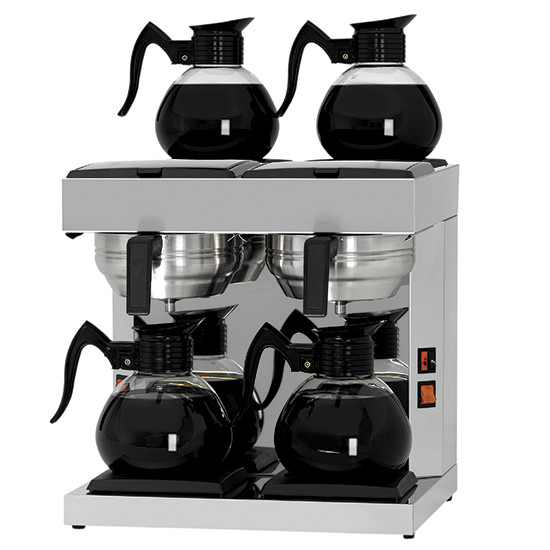 Filterkaffeemaschine, manuell, 4 Glaskannen 1,8 Liter