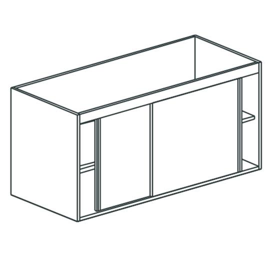 Arbeitsschrank, mit Schiebetüren, mit Zwischenboden, 1600x700 mm