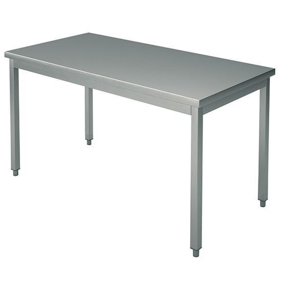 Arbeitstisch, auf Beinen 40x40 mm, mit Rahmen, ohne Aufkantung, 2200x1200 mm