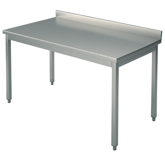 Arbeitstisch, auf Beinen 40x40 mm, mit Rahmen, mit Aufkantung, 3000x800 mm