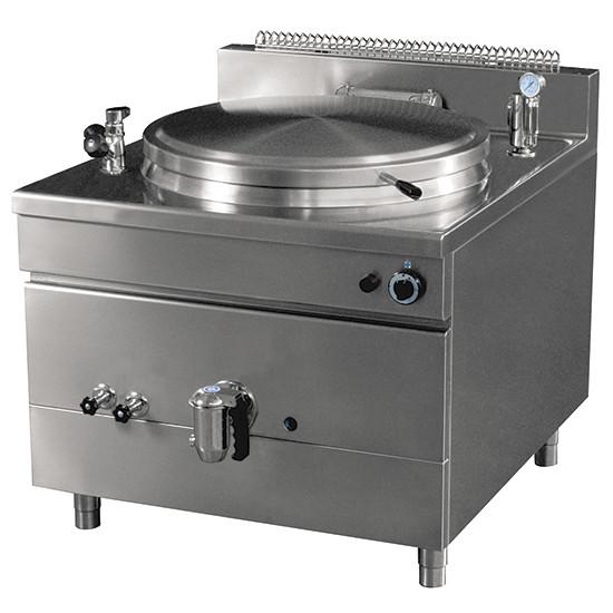 Gas-Kochkessel, quadratische Version, indirekte Beheizung, 100 Liter