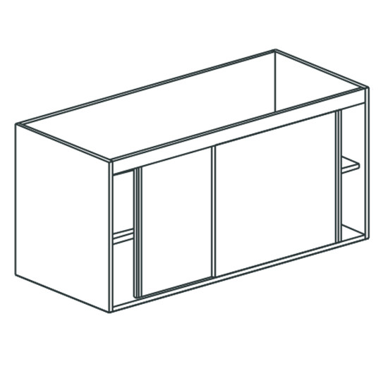 Arbeitsschrank, mit Schiebetüren, für Spüle, 1800x700 mm