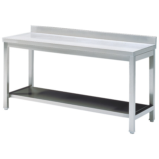 Arbeitstisch mit Zwischenboden, mit Aufkantung, 1100x600 mm
