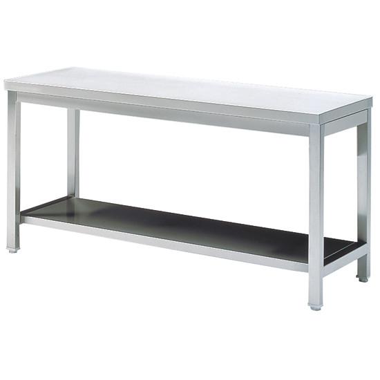 Arbeitstisch mit Zwischenboden, ohne Aufkantung, 600x600 mm