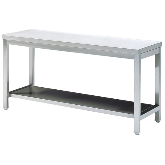 Arbeitstisch mit Zwischenboden, ohne Aufkantung, 1400x700 mm