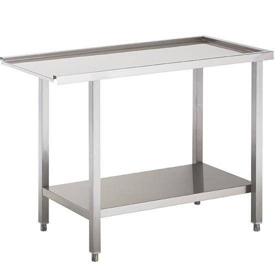 Auslauftisch oder Zulauftisch für Korbdurchschubspüler, B=1000 mm