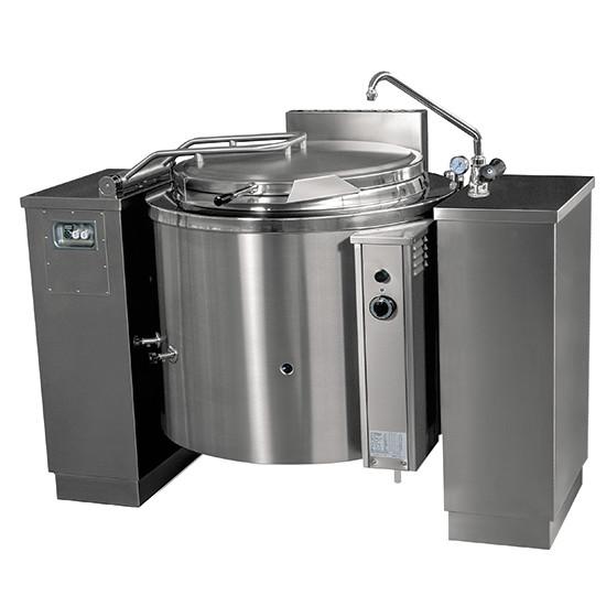 Gas-Kochkessel, kippbar, runde Version, indirekte Beheizung, 100 Liter