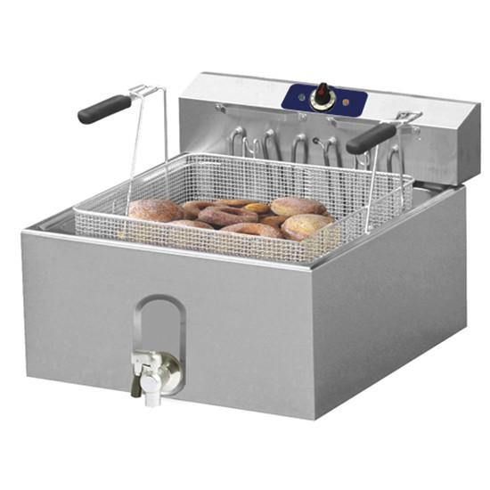 Elektro-Friteuse, 25 Liter für Konditorei mit Ablasshahn