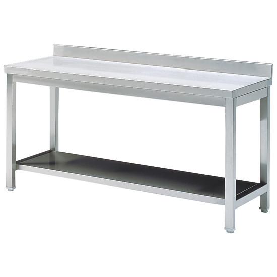 Arbeitstisch mit Zwischenboden, mit Aufkantung, 700x700 mm
