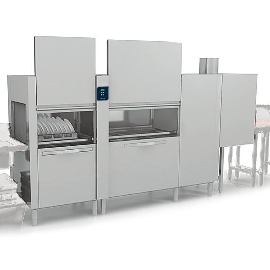 Korbtransportmaschine mit Vorwasch-, Wasch- und 2-fach Nachspülzone, 270 Körbe/ Stunde
