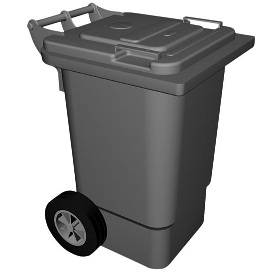 fahrbahrer Abfallbehälter, 120 Liter